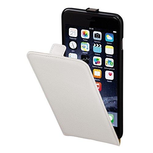 Hama Flip Case (für Apple iPhone 6 Plus (5,5) Tasche, maßgefertigte Schutzhülle mit Magnetverschluss) weiß (Iphone-sechs-plus-flap Case)