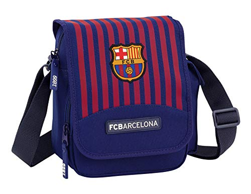 FC Barcelona 611829511 2018 Bolso Bandolera 21 cm, Azul