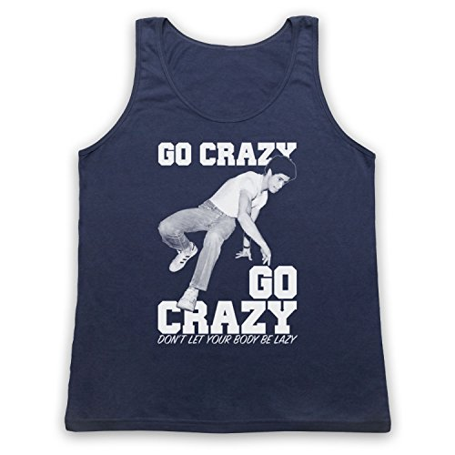 Crazy Legs Go Crazy Breakdancing Slogan Tank-Top Weste Ultramarinblau