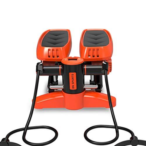 EGCLJ Fitness Elliptischer Stepper, Indoor Cardio-Trainingsgerät, Easy Under Desk Workout, Digitalanzeige, Widerstandsband
