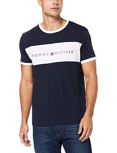 Tommy Hilfiger Original Logo Flag T-Shirt - Navy Medium