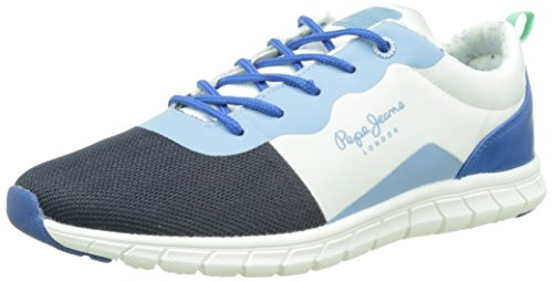 Pepe Jeans Coven Seal, Sneakers Basses garçon Bleu (551 Blue)