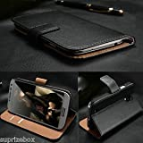 Luxury premium leather wallet mobile stand case cover for