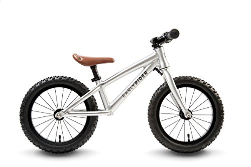 Early RiderTrail Runner Kids' Kids Bike Silver, aluminium frame, 1 speed sealed cartridge bearings 14 inches pneumatic knobbly wheels