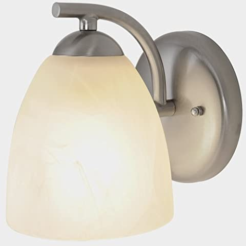 Monument 617631 Contemporary Vanity Fixture, Brushed Nickel, 5 In. by Monument