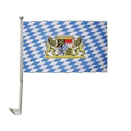 Wappen Schreiben (Auto-Fahne: Bayern Wappen mit Löwen)