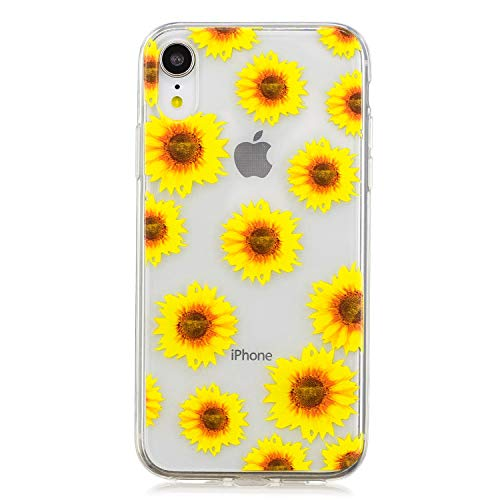 Cozy Hut iPhone XR Hülle, iPhone XR Handyhülle, Transparent Durchsichtig [Ultra Dünn] Klar Weiche TPU Schutzhülle für iPhone XR - Gänseblümchen