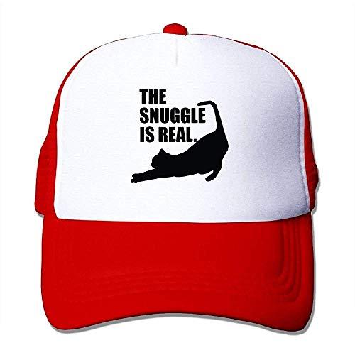 Hoswee Unisex Kappe/Baseballkappe, The Snuggle is Real Hip-Hop Street Mesh Hat Snapback Hat