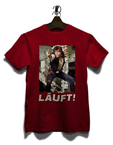 Laeuft 67 T-Shirt Bordeaux