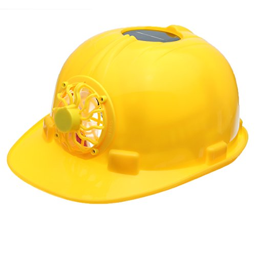 Hard-panel (ChaRLes Yellow Solar Power Safety Helm Work Hard Hat Solar Panel Cooling Fan)