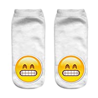 7y/dy/ Sturdy Cute Emoji Pattern Socks Sports Stocking for Girls Boys Teenagers