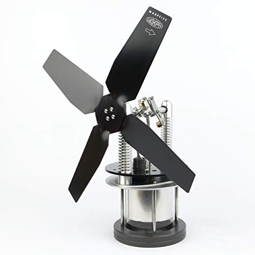 Glasshopper Ofenventilator ohne Strom für Holzofen Kamin, Stirling Motorlüfter