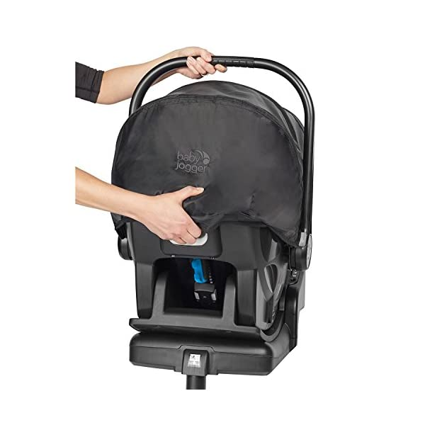 Baby Jogger City Go i-Size Iso-fix Car Seat Base,  Black Baby Jogger Compatible with baby jogger city go i-size infant car seat. Secure isofix connectors plus colour-coded red/green indicators ensure both the base and seat are properly installed, minimising the risk of incorrect installation. Load leg prevents the seat from shifting when rear facing. 13