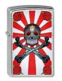 Zippo 2.003.087 Collection 2013 - Mechero (cromado) diseño de calavera con tibias cruzadas