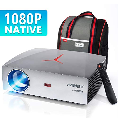 "VIVIBRIGHT F40 1080P Beamer, Native Full HD Projektor, 4200Lumen Video Beamer 300\"" Display Heimkino Beamer, HiFi Klasse Lautsprecher mit SPDIF, Kompatibel mit TV Stick, PS4, Xbox, HDMI, SPDIF, USB, AV"
