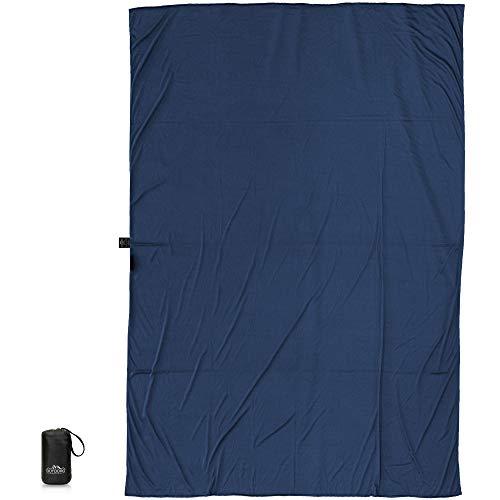 Outdoro Isopeak Reisedecke - 210x155cm - Ultraleichte Decke für Reisen - Geringes Packmaß - weich und atmungsaktiv