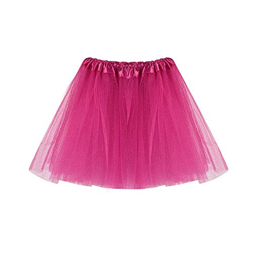 IZHH Kinder MäDchen Rock Kind Tanz Tutu Gaze Rock Flash Highlights Tutu MäDchen MäDchen Baby Tanz Fluffy Tutu Rock Pettiskirt Ballett Fancy Costume(Hot ()