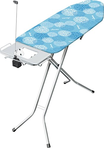 Vileda Solid Plus Bügelbrett extrabreite Bügelfläche, höhenverstellbar, Metall, Blau, 164,5 x 44 cm