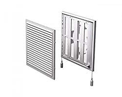 Air Vent Grille Cover 250x250mm (Ø100-150mm Duct) Air Flow Regulator Ventilation White (Mv 250 Vdrs)