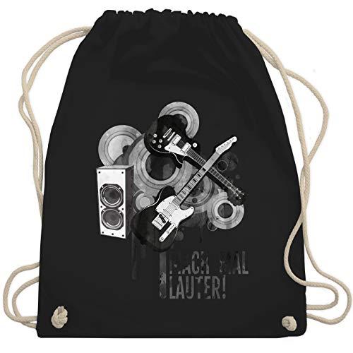 Statement Shirts - Mach mal lauter! - Unisize - Schwarz - WM110 - Turnbeutel & Gym Bag