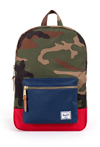 Herschel Casual Daypack (), Sac Adulte Mixte Multicolore (Woodland Camo/navy/red)