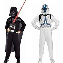Boiite Vitrine - Déguisement Duo Clone Trooper et Dark Vador Enfant