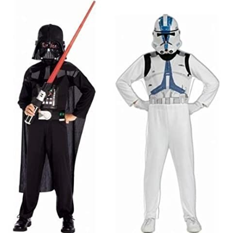 Star Wars - Pack Disfraces Darth Vader y Clone Trooper, 5-7 años (Rubies 37013)