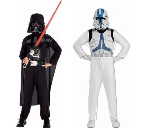 Rubie's - Star Wars - ST-37013 - Costume - Boite Dark Vador + Clone Trooper