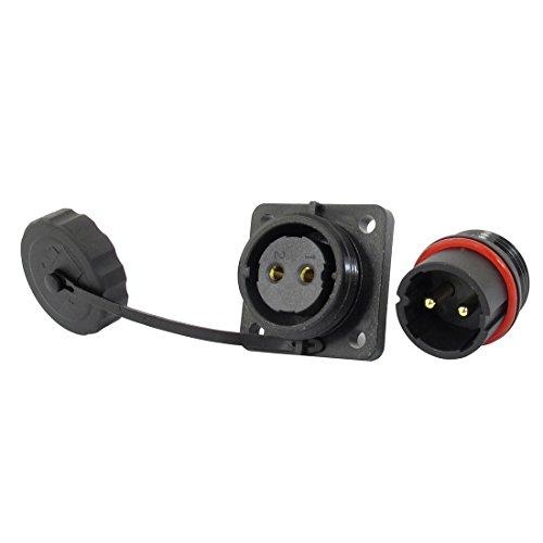 Quadratischen Sockel (sourcingmap® SD20 20mm quadratisch Wasserdicht Aviation Kabel Verschluss Sockel Buchse IP68)