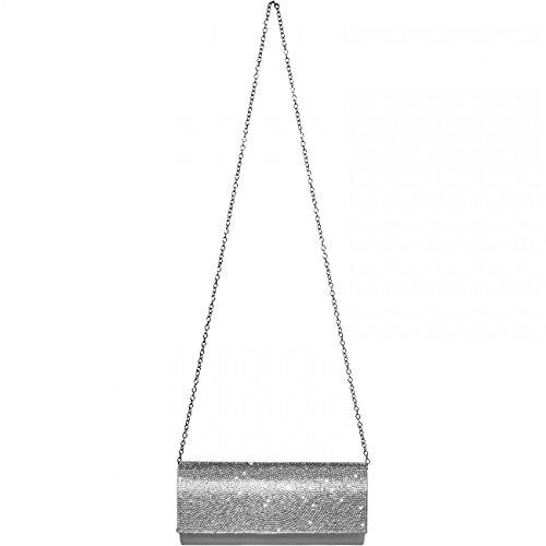 CASPAR Fashion, Poschette giorno donna (argento)