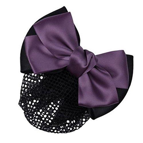 3pcs Bow Tie barette cheveux clip Snood Net coiffure pour les femmes, Z
