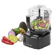Salter EK3171 8-in-1 Compact Prep Pro Mini Food Processor, 1 L, 200 W, Black