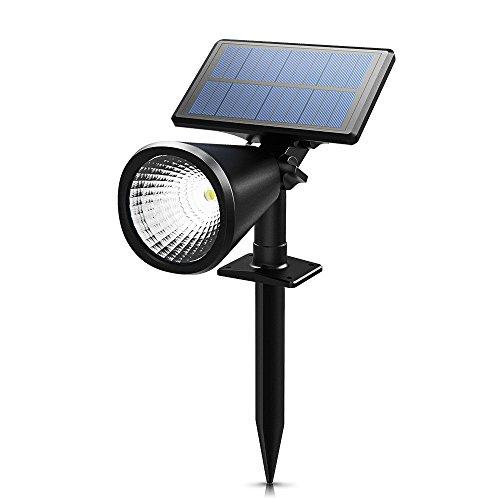 Preisvergleich Produktbild ENERGIESPAREND Mpow 2 Stück Solarleuchten,  Solarlampe Outdoor Wandleuchte,  Scheinwerfer im Freien Außenbeleuchtung wasserdicht Wandlicht,  Sicherheitsleuchte für Garten,  Garage,  Auffahrt,  Pfad,  Hof