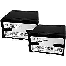 2x subtel® Batteria premium per Sony PMW-200, PMW-F3, PXW-FS5, PXW-FS7, PXW-X200, PXW-X180, PXW-X160, PMW-100, PMW-150, PMW-EX1, PMW-EX3 (5200mAh) BP-U30,BP-U60,BP-U90 Batterie di ricambio, accu sostituzione, sostituto