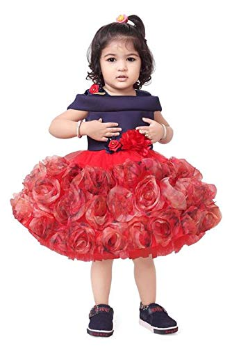 c3970825 Apna Party Dress/Frock for Kids Red Colour for Little Princess ...