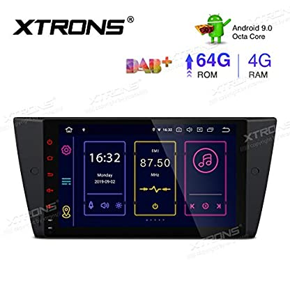 XTRONS-9-Android-90-4GB-RAM-64GB-ROM-Autoradio-mit-Touch-Screen-Octa-Core-Multimedia-Player-untersttzt-4G-WiFi-Bluetooth-DAB-OBD2-TPMS-Musik-Streaming-Plug-und-Play-FR-BMW-E90-E92-E93