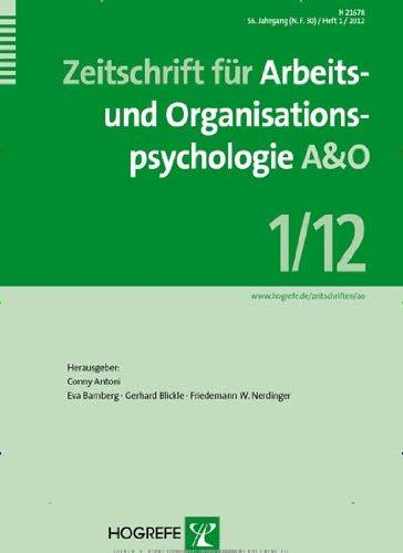 Zeitschrift für Arbeits- und Organisationspsychologie A&O [Jahresabo]