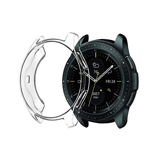 Schutzhülle für Samsung Galaxy Watch 42mm, Ultra-dünne weiche TPU Schutz Silikonhülle (klar)