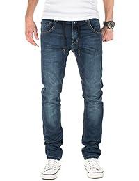 Yazubi Herren Sweathose in Jeansoptik Steve - Jogginghose in Jeans-Look