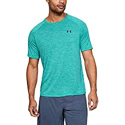 Under Armour UA Tech 2.0 SS tee Camiseta, Hombre, Verde (Teal Rush/Pitch Gray 454), XL