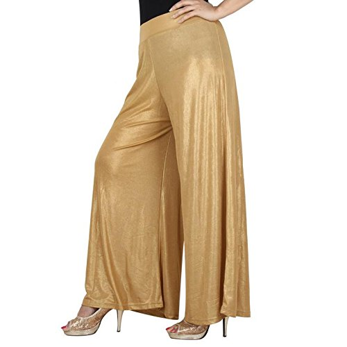 DREAM & DZIRE Women's Viscose Golden Ethnic Palazzo for All Plus Size and Small Size (141_GOLDEN-3XL)