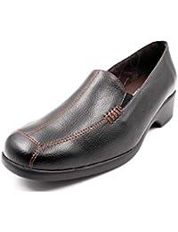 Zapato Mujer Tipo mocasín de la Marca DOCTOR CUTILLAS, en Piel Color Negro, Piso