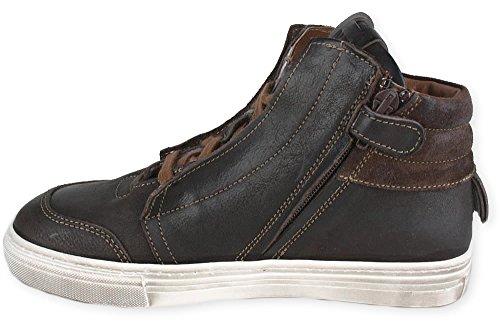 MORO MILANO Sneaker Momino Lammfell Reißverschluss Braun