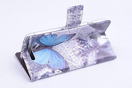 Baiwei Pu Leder Kunstleder Flip Cover Tasche Handyhülle Case Mit Halterung und Karte Slot für JIAYU S3 S 3 Tasche Hülle Case Handytasche Handyhülle Etui (Mode1)