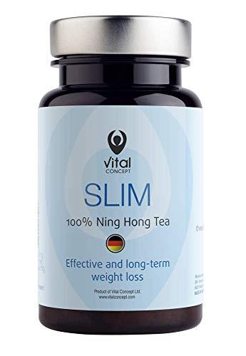 Vital Concept Slim - mit Ning Hong, der König von Tee. Für eine Gesunde Gewichts Abnahme und Schlanken Figur. Unterstützt die Schnelle Fettverbrennung und Verlust von Bauchfet. 30 Kapseln, 30 Tage -