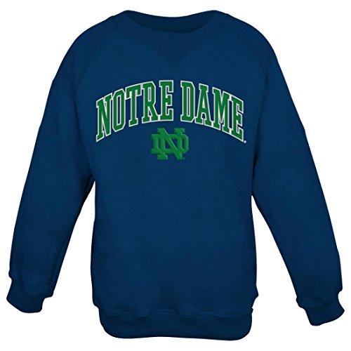 Notre Dame Fighting Irish NCAA Embroidered Crew Men's Sweatshirt - Navy (Notre-dame-sweatshirts)