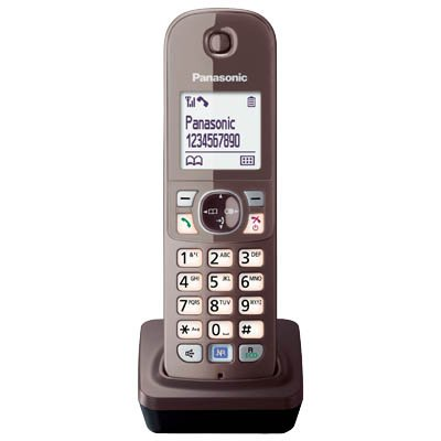 Panasonic KX-TGA681EXA Mobilteil für KX-TG68xx Serie inkl. Ladeschale Mocca-braun Panasonic Kx-serie