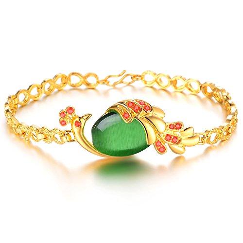 Opk Jewellry Cute placcato oro 18 k, con pietra d