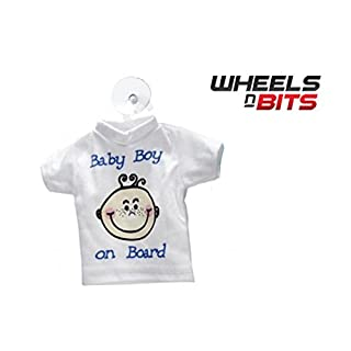 Wheels N Bits BABY BOY ON BOARD CHILD SAFETY CAR VEHICLE SIGNS CHILD & WINDOW SUCK CUP