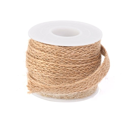 fenical 5 m10 mm geflochten Sackleinen Jute Seil Craft Ribbon für Arts Crafts Weihnachten Geschenk Verpackung (braun) (Craft Ribbon Sackleinen)